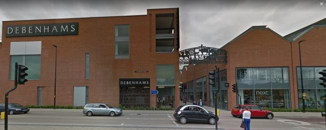 The woman was caught stealing from Debenhams in Hereford. Picture: Google Maps