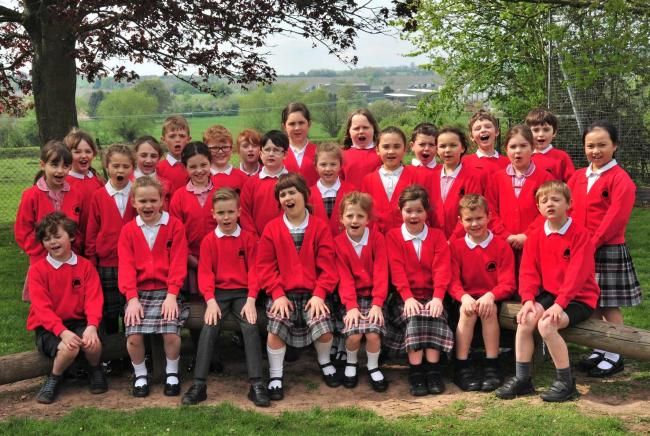 Much Marcle Primary choir perform at the Hellens Music Festival