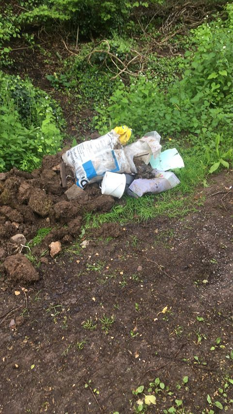 Fly-tipping in Callow, Hereford. Picture by Martin Glover