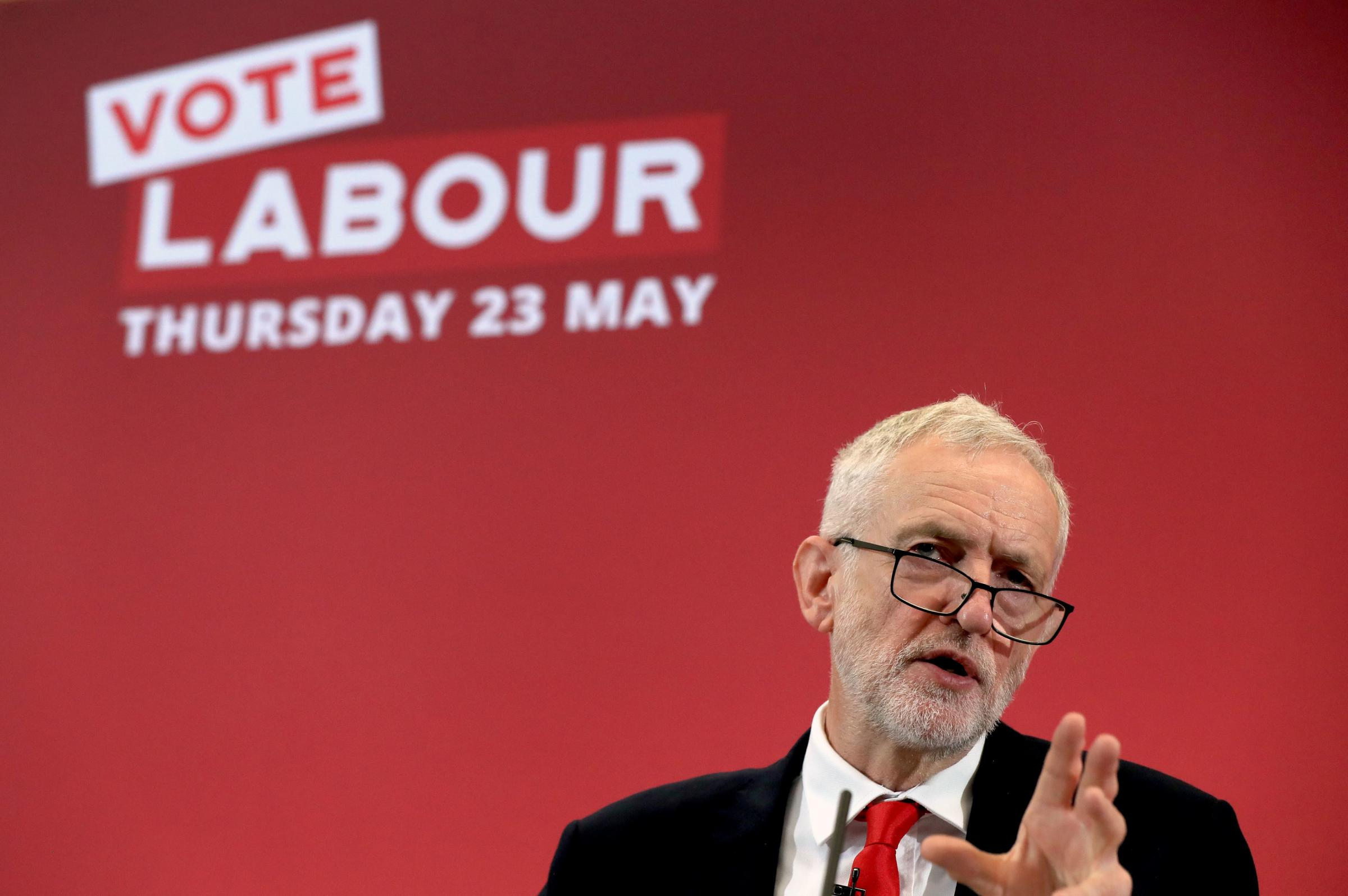 Don't do it! Leader Jeremy Corbyn asks people to support Labour at the party's European election campaign launch, but Herefordshire for Europe say you shouldn't.