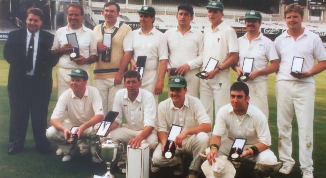 The Kington team who won the Rothmans Village Cricket Championship at Lord's in 1993.