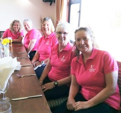 Making a great start to the season were (l-r) Fran Ward, Kay Eames, Anna Powell, Tina Bell and Team Captain Gill Boase.