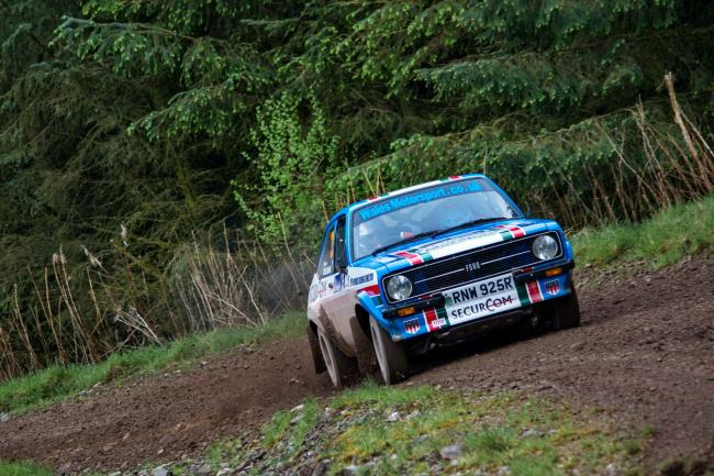 Roger Chilman and Paul Morris in action during the RSAC Scottish Rally