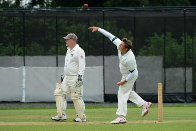 Bartestree & Lugwardine Cricket Club v Himbleton - Ryan Trattell bowling..