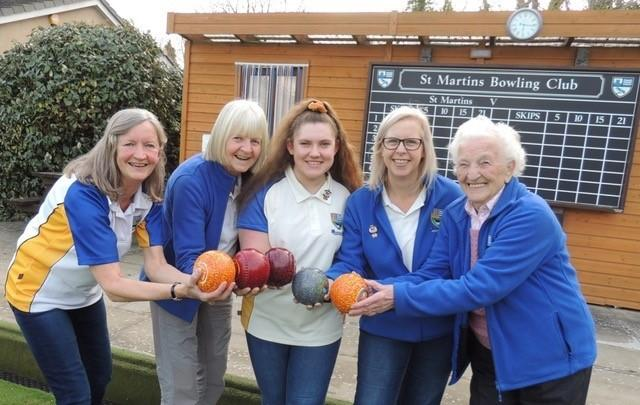 Some of St Martin's Women Bowlers