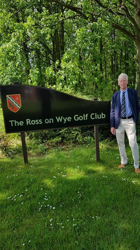 Ross Golf Club senior captain Andy Baldwin