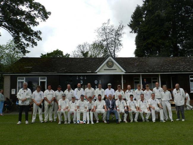 The Kington Old Boys and KCC's 'Anniversarians' side who competed in an anniversary match to mark 175 years of the club