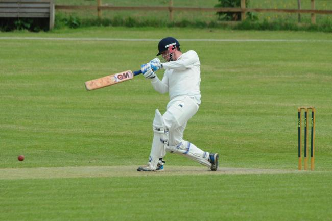 Wormelow Cricket Club v Strollers CC - Matt Deem batting for Wormelow..