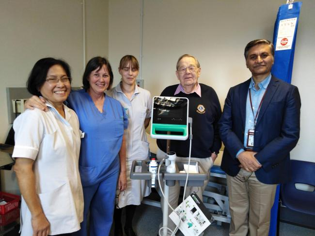 Hereford Lions Club have donated a bladder scanner to Hereford County Hospital.