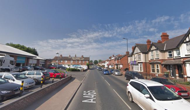 Two tyres were slashed on a car parked on Belmont Road in Hereford.