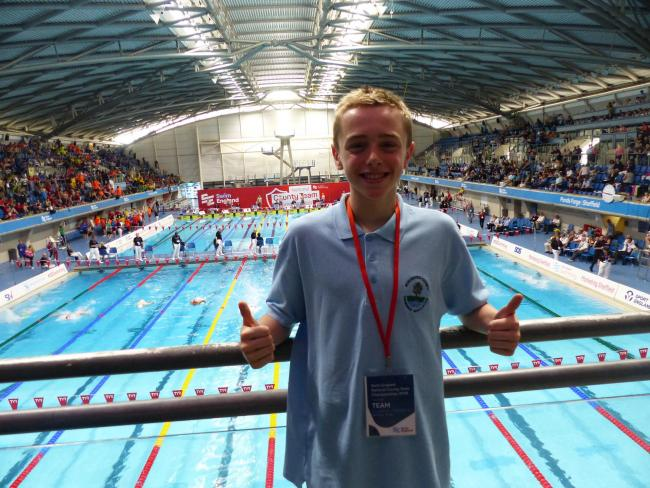 Hereford's Oliver Jones continues to shine in the pool
