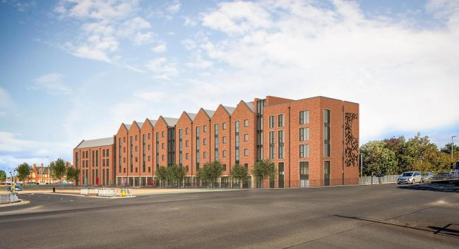 An artist's impression of the new student accommodation being built in Station Approach